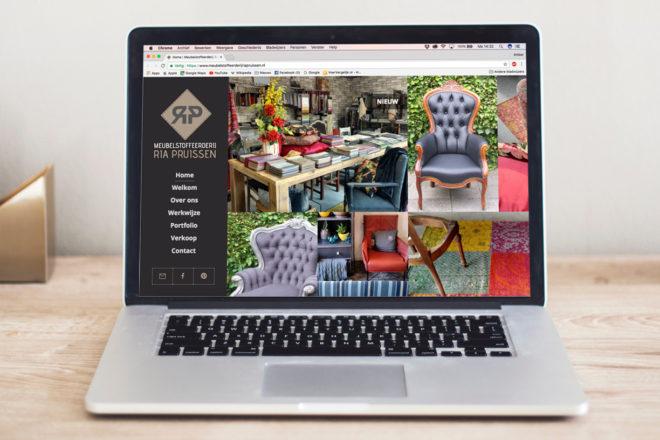 Meubelstoffeerderij Ria Pruissen webdesign